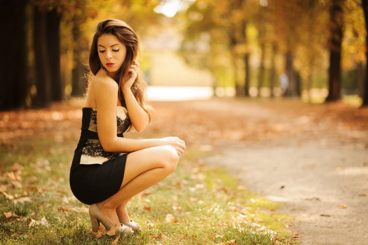 autumn sexy babe model mood wallpaper