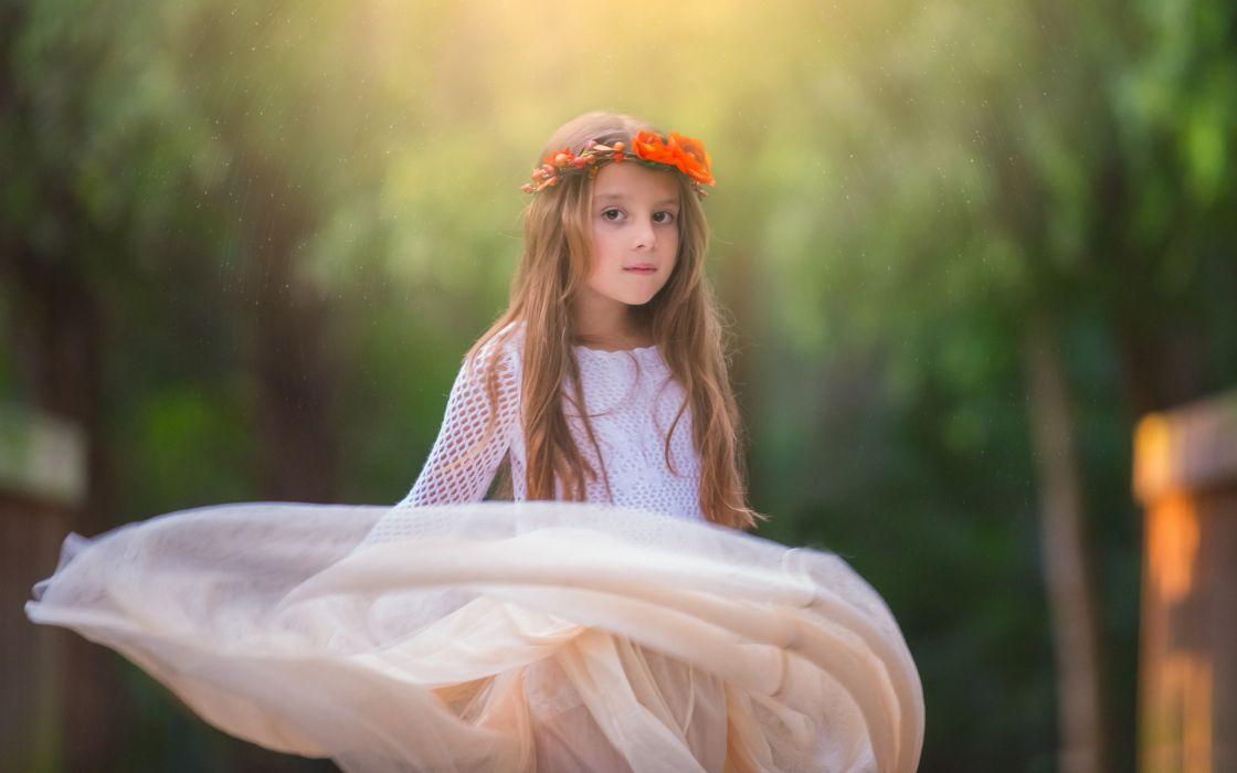 dress soft child kids girl mood    f wallpaper