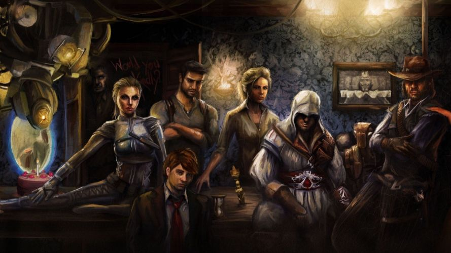 Portal Assassins Creed Lara Croft Drake Red Dead Redemption Uncharted wallpaper