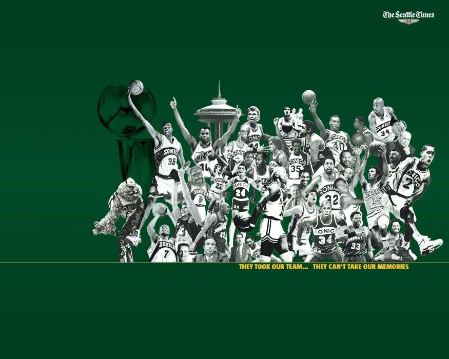 SEATTLE SUPERSONICS basketball nba poster wallpaper