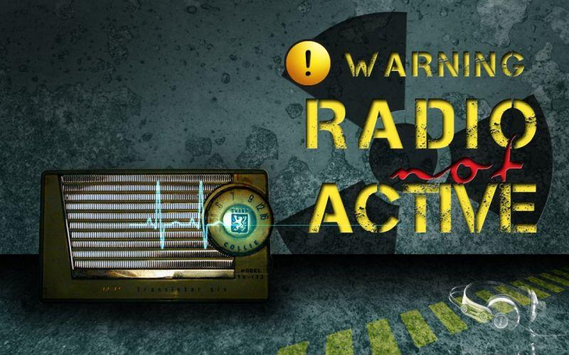 warning radio poster headphones wallpaper