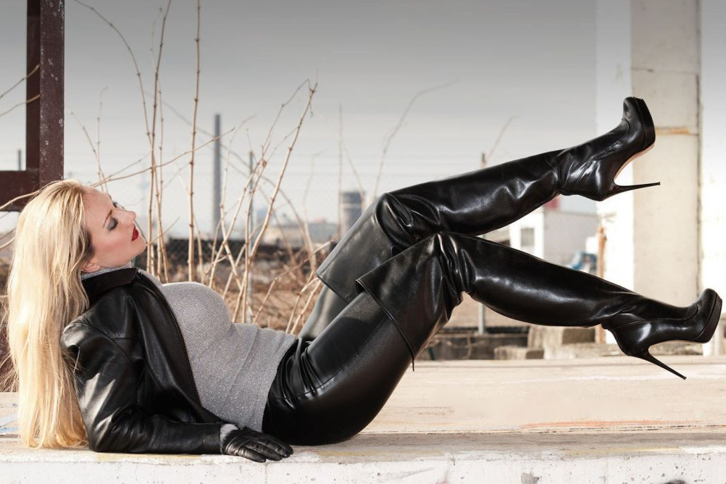 leather boots legs sexy babe adult  k wallpaper