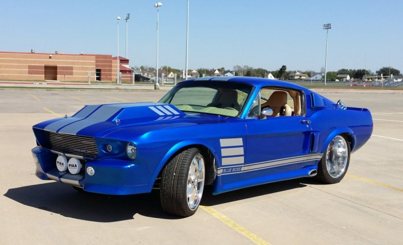 1967 Ford Mustang Blue Boss Custom wallpaper