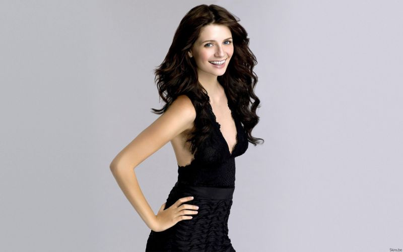 brunettes women actress Mischa Barton black dress wallpaper
