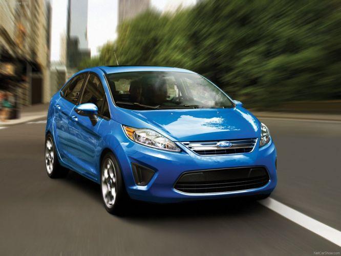 blue cars Ford Fiesta wallpaper