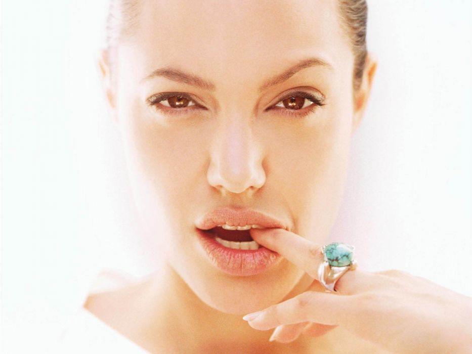 women Angelina Jolie faces wallpaper