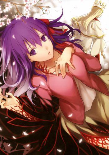 Fate/Stay Night purple hair Matou Sakura purple eyes anime girls Dark Sakura Fate series Illyasviel von Einzbern wallpaper