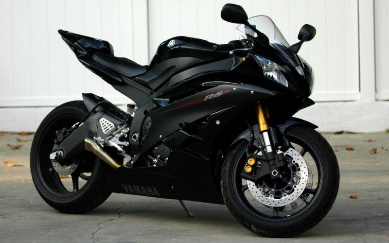 black sports motorbikes Yamaha R6 wallpaper