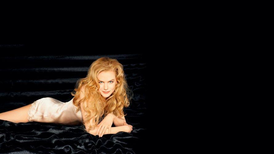 blondes women Nicole Kidman lying down wallpaper