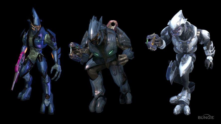 Halo elite Halo Reach science fiction comparisons Halo Ce Halo 2 elites wallpaper
