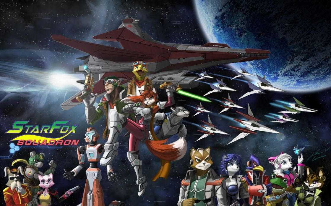 outer space Star Fox Peppy Hare Falco Fox McCloud wallpaper