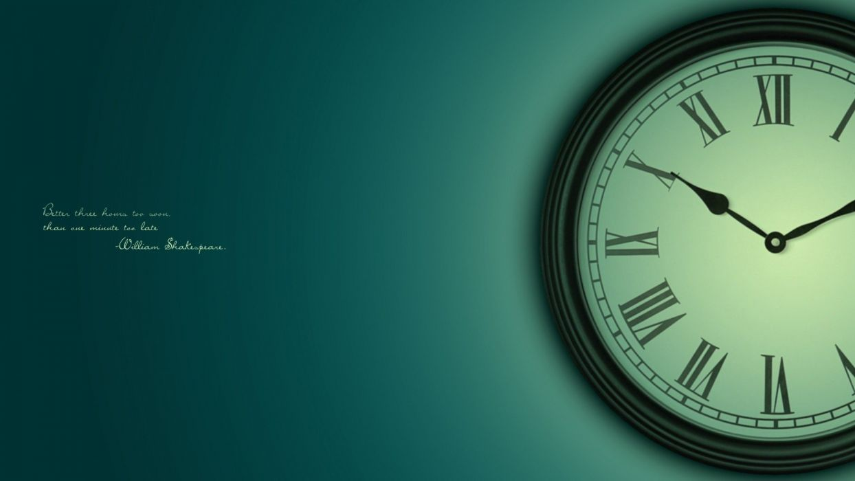 clocks inspirational wallpaper