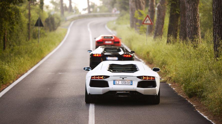 cars roads duplicate wallpaper