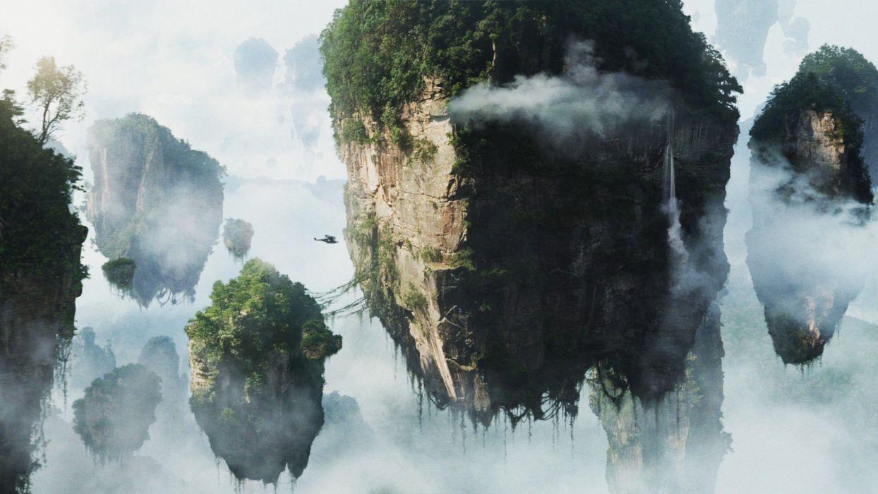 landscapes Avatar surreal fantasy art pandora skyscapes wallpaper