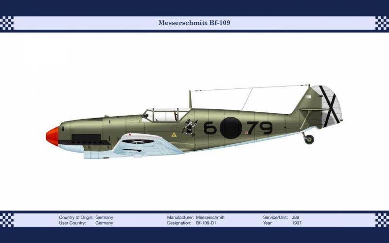 World War II planes Bf-109 wallpaper