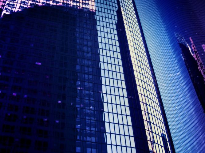 cityscapes skyscrapers reflections wallpaper