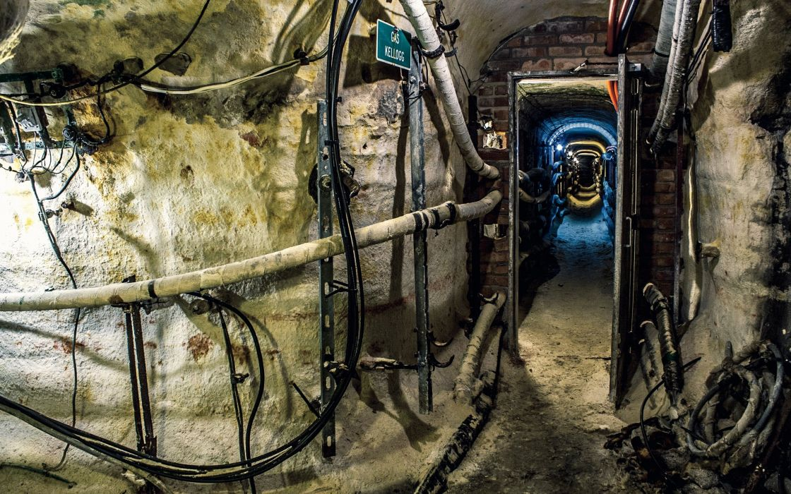 urban tunnels pipes industrial plants wallpaper