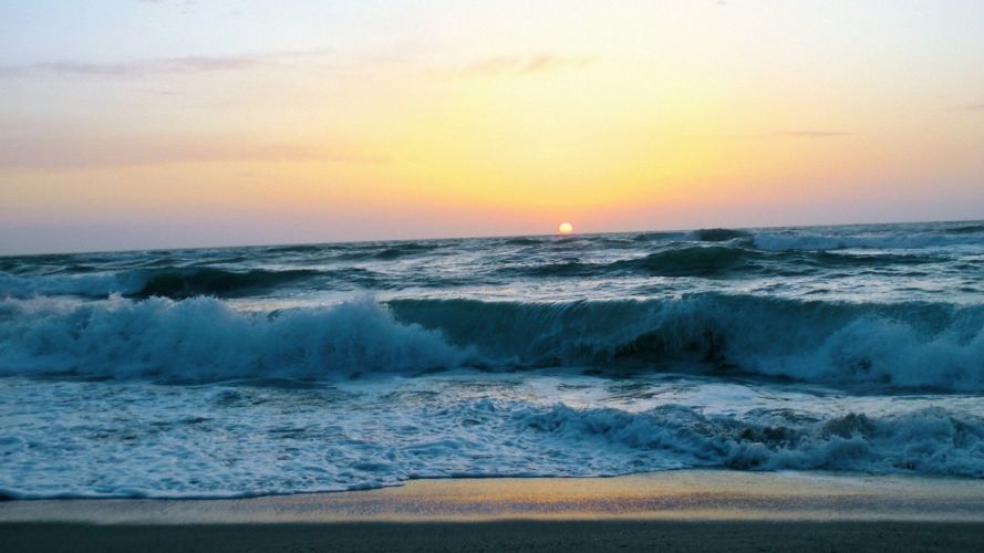 nature waves sea wallpaper