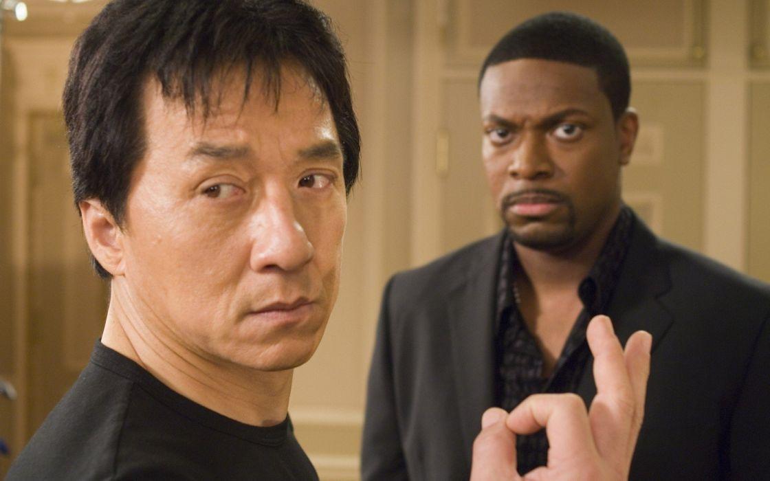 movies men Jackie Chan actors Rush Hour Chris Tucker wallpaper