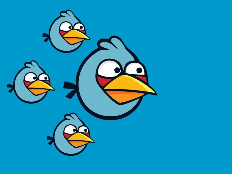 Blue Freedom Angry Angry Birds Simple Background Blue Bird