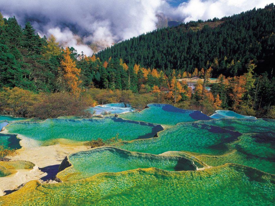 nature hot springs wallpaper