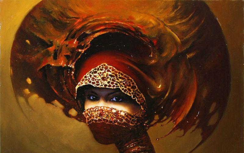 women artwork wallpaper