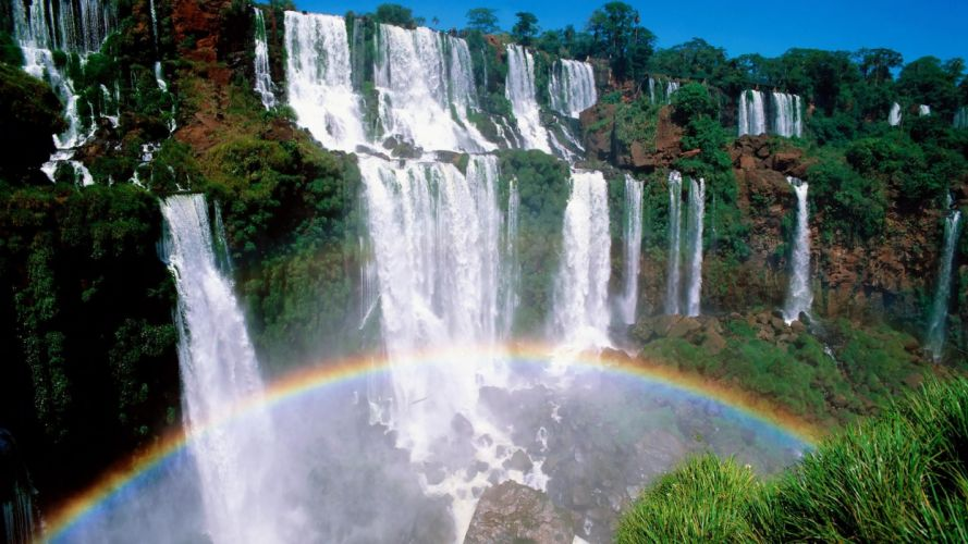 landscapes Argentina waterfalls National Park wallpaper