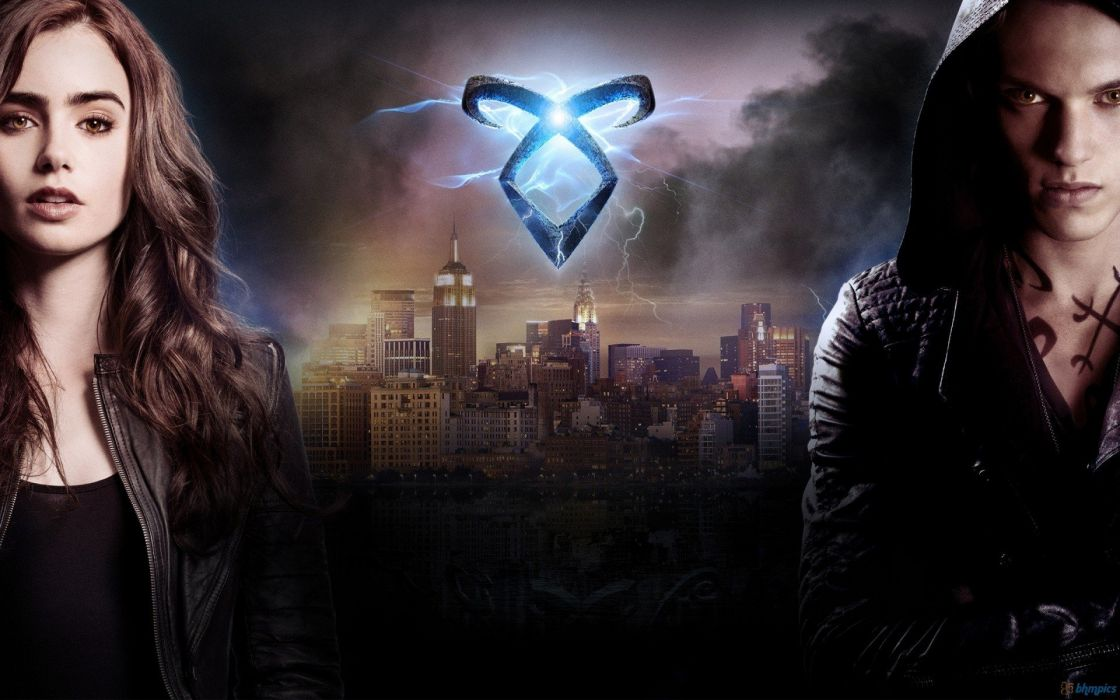 Lily Collins movie posters The Mortal Instruments: City of Bones Jamie Campbell Bower wallpaper