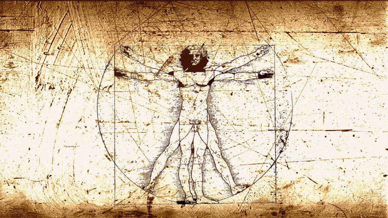 vitruvian man leonardo da vinci wallpaper 1920x1080
