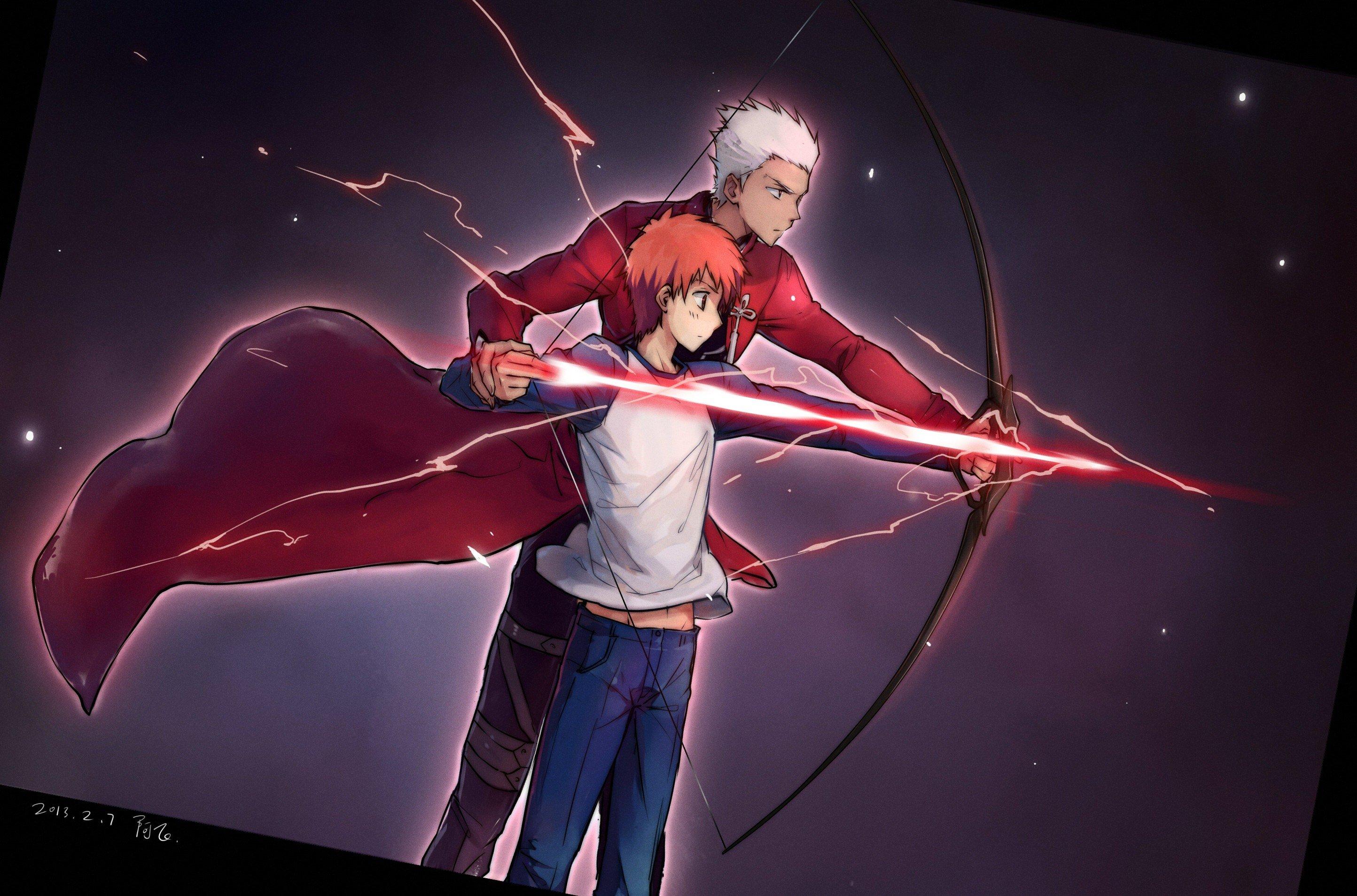 Fate Stay Night Emiya Shirou Anime Boys Archer Fate Stay Night