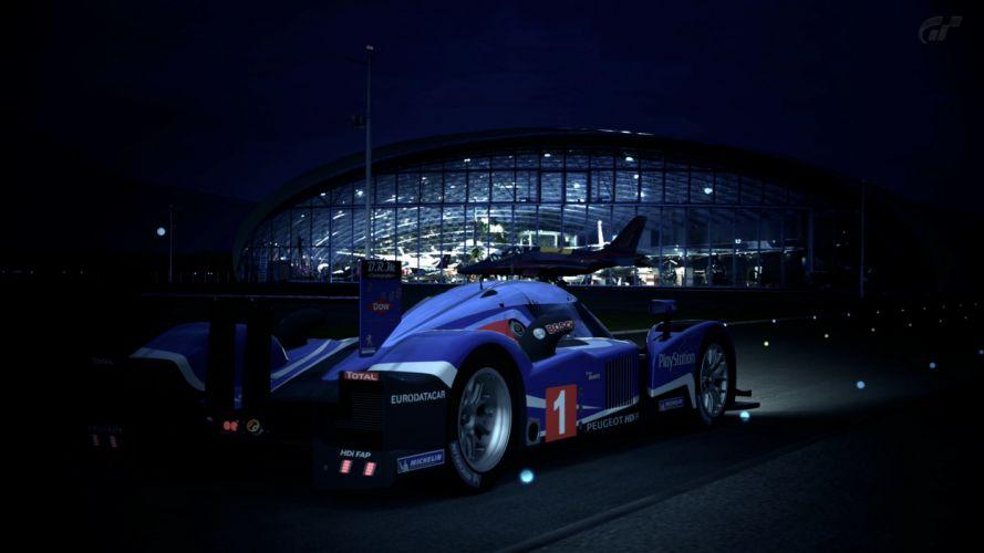 cars Red Bull hangar Gran Turismo 5 Peugeot 908 HDi FAP racing cars wallpaper