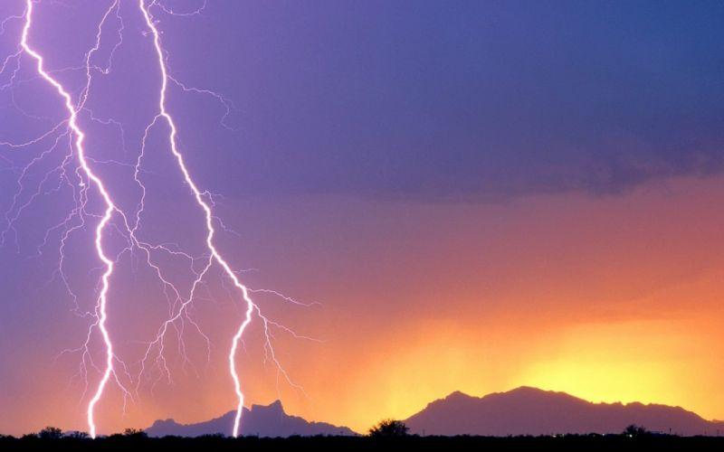 nature lightning bolts wallpaper