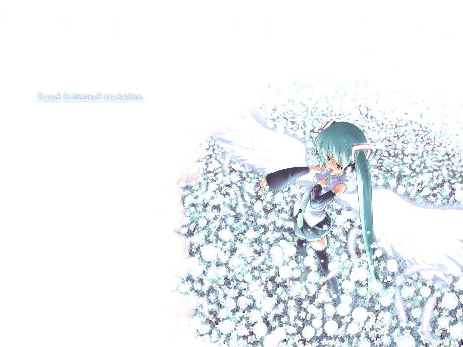 wings Vocaloid Hatsune Miku long hair wallpaper