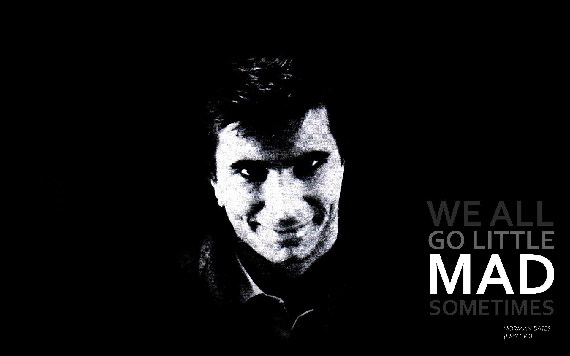 Alfred De Vigny Quotes 44 Wallpapers: Quotes Psycho Grayscale Alfred Hitchcock Anthony Perkins