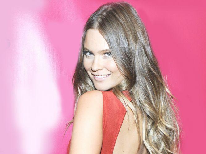 brunettes women blue eyes fashion fashion photography Behati Prinsloo fashion model Victoria Secret wallpaper