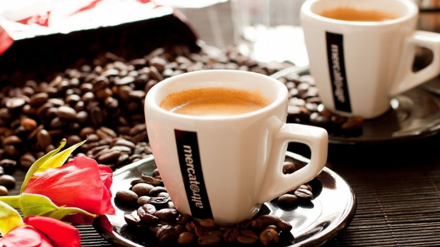 coffee food brown beans drinking Coffee and milk wallpaper