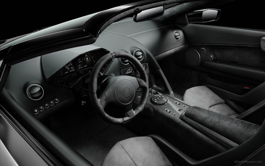 cars Lamborghini interior vehicles Lamborghini Reventon roadster wallpaper