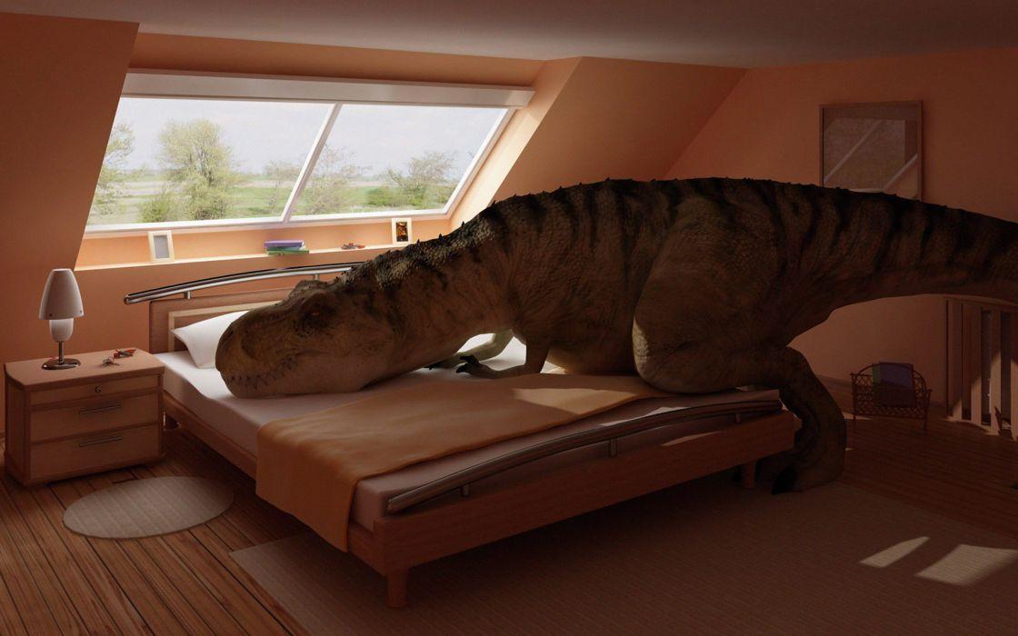 dinosaurs bedroom Tyrannosaurus Rex wallpaper