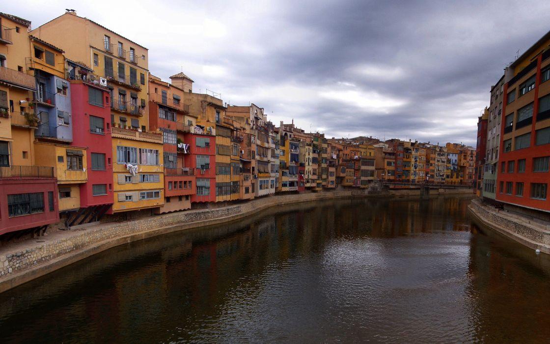 architecture houses buildings rivers wallpaper