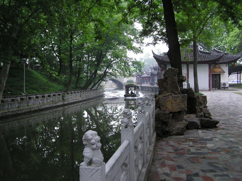 China Asian architecture wallpaper