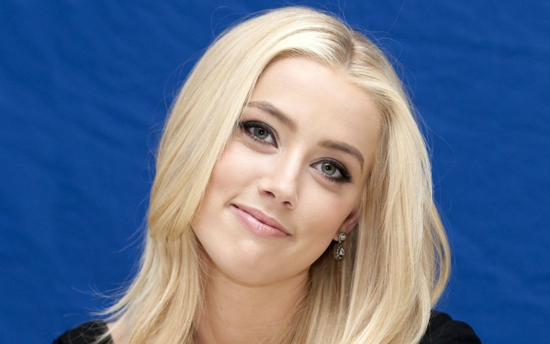 blondes women actress Amber Heard gray eyes wallpaper