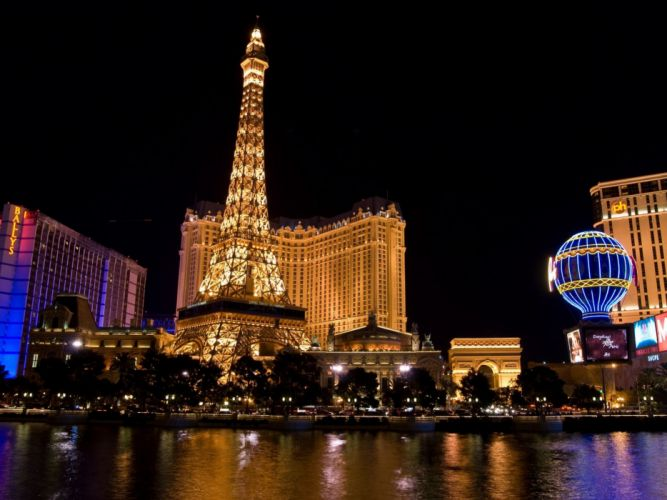 Paris night Las Vegas wallpaper