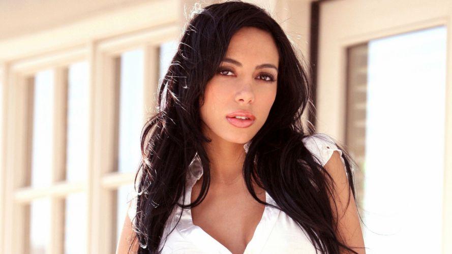 brunettes women pornstars Lela Star halter top wallpaper