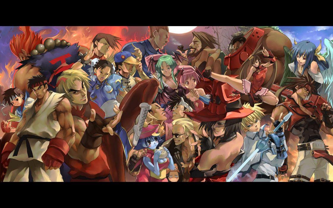 Street Fighter Sakura Ryu Akuma Chun Li Ken Masters Wallpaper