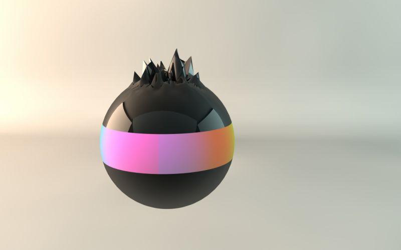 abstract balls animated Cinema4D wallpaper