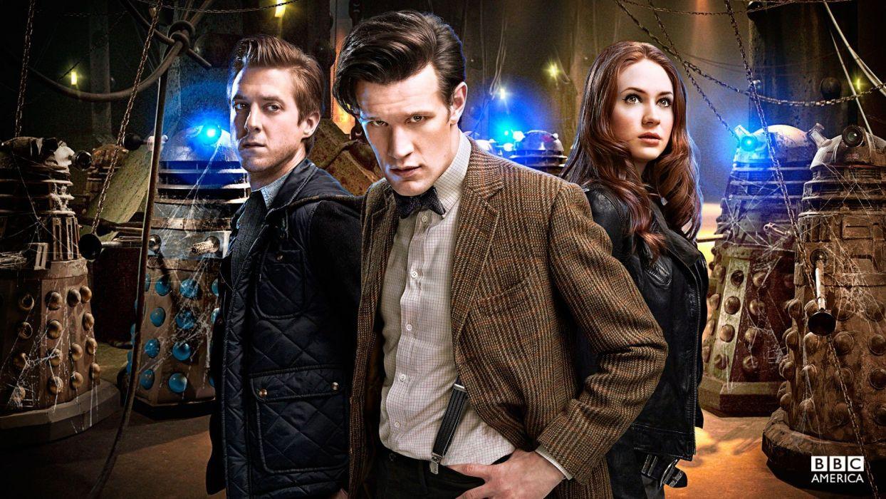 Matt Smith Dalek Karen Gillan Amy Pond Eleventh Doctor Doctor Who