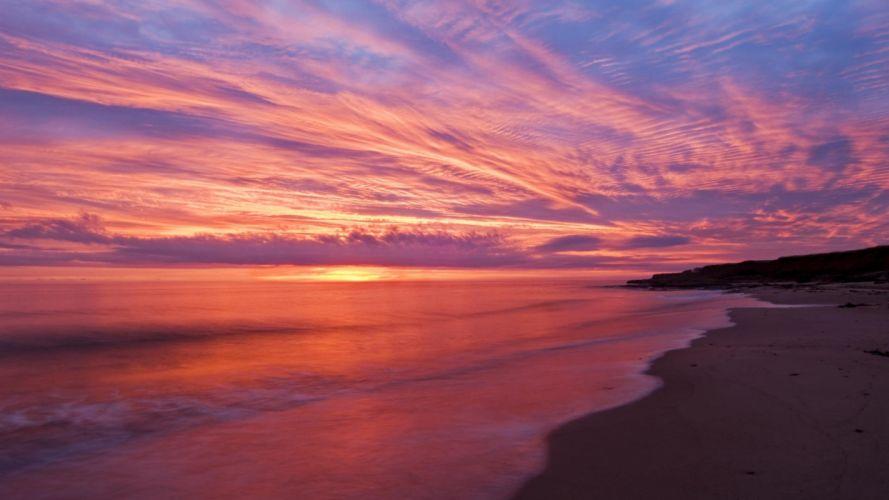 dawn Canada islands Gulf Prince Edward Island wallpaper
