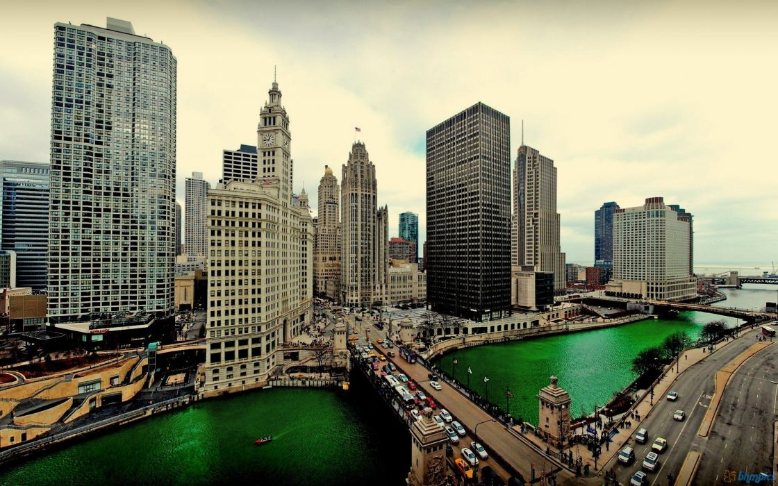 Chicago River panoramic wallpaper
