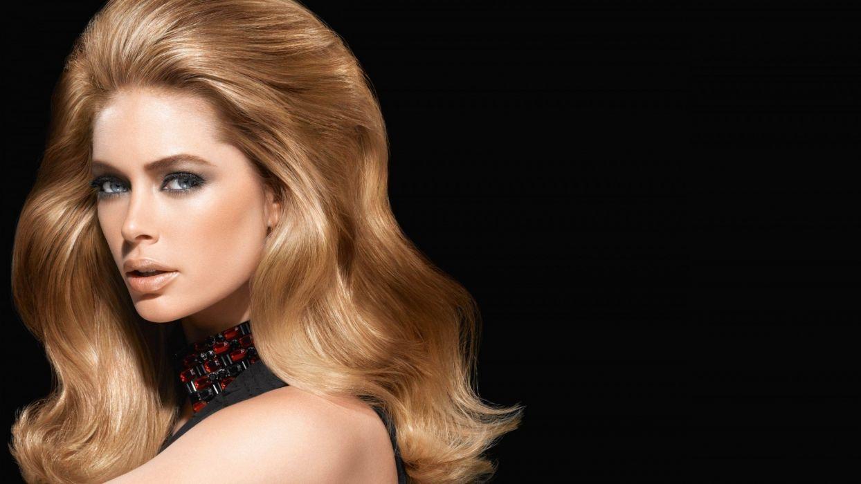 blondes women Doutzen Kroes supermodels models wallpaper