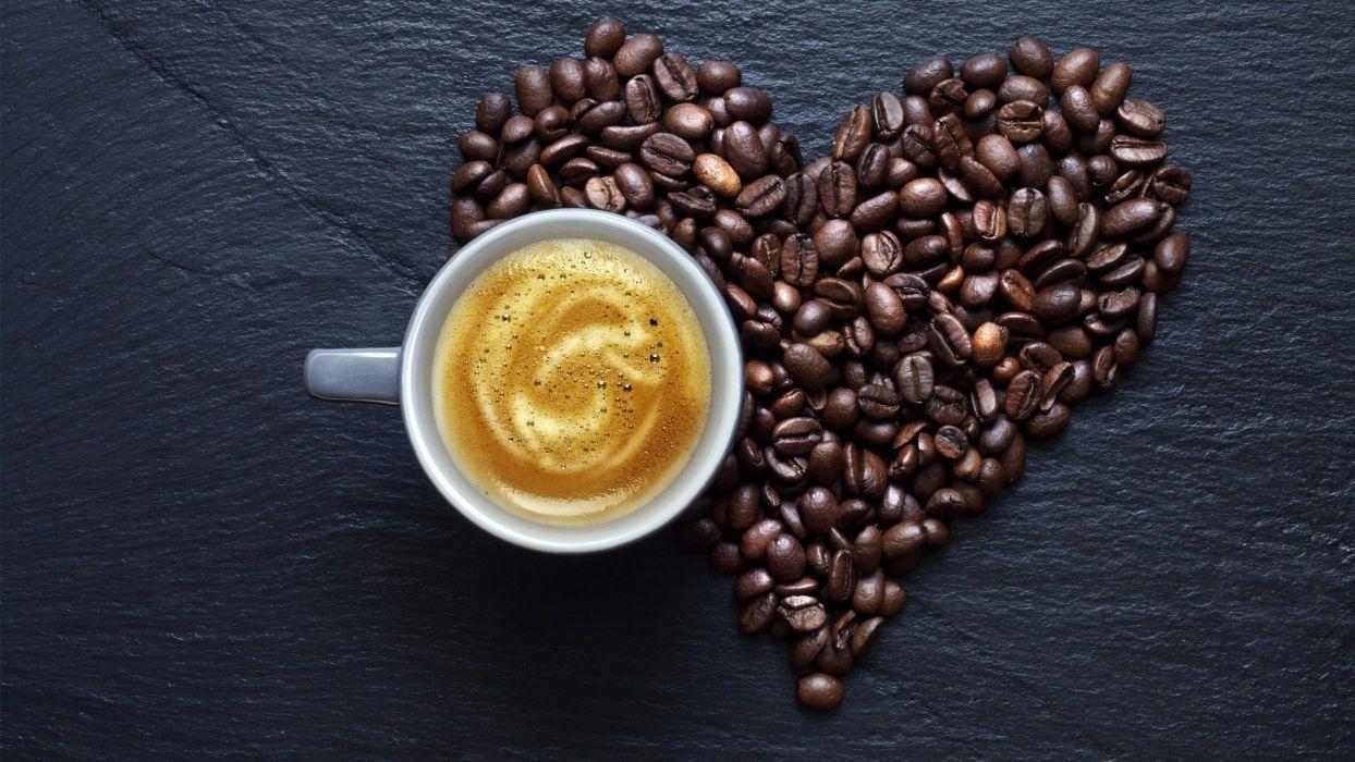 love coffee hearts wallpaper